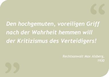 Zitat Alsberg